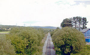Vale of Neath Railway - Hirwaun station on the Vale of Neath Railway.