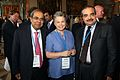 His Highness Sheikh Salman Al Kalifa, Bahrain, with Maria Cattaui, Member of the Board, Petroplus Holding, and Prakash Hinduja, Chairman, Hinduja, at the Horasis Global India Business Meeting 2009 - Flickr - Horasis.jpg