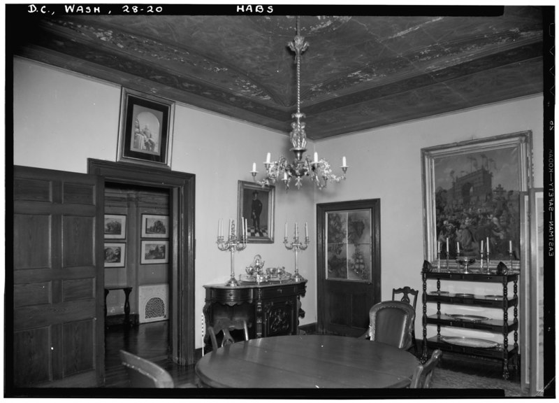 File:Historic American Buildings Survey John O. Brostrup, Photographer January 21, 1937 11-35 A.M. VIEW OF SOUTHWEST CORNER OF DINING ROOM. - Decatur House, National Trust for Historic HABS DC,WASH,28-20.tif