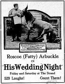 Description de l'image Hisweddingnight-newspaperad-1917.jpg.