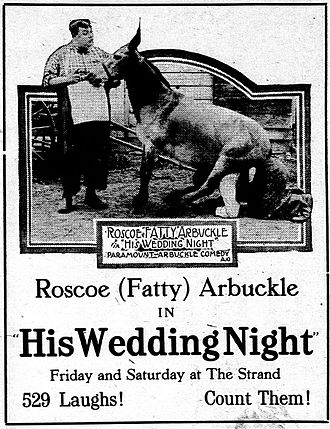 His Wedding Night - Advertisement for the film