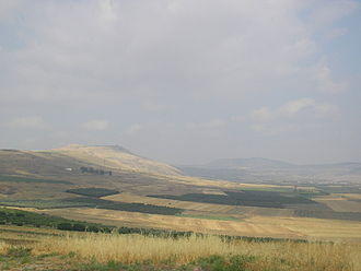Battle of Hattin - Horns of Hattin, 2005, as viewed from the east