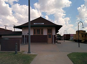 National Register of Historic Places listings in Kiowa County, Oklahoma - Image: Hobart Rock Island Depot