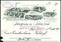 Holländische Margarinewerke Jurgens & Prinzen GmbH Osch Antwerpen Helmond Bezirk Hannover Rechnung 1898-12-01 Krankenhaus Valdorf Vlotho Detail.jpg