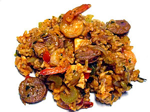 Louisiana Creole cuisine - An example of creole Jambalaya.