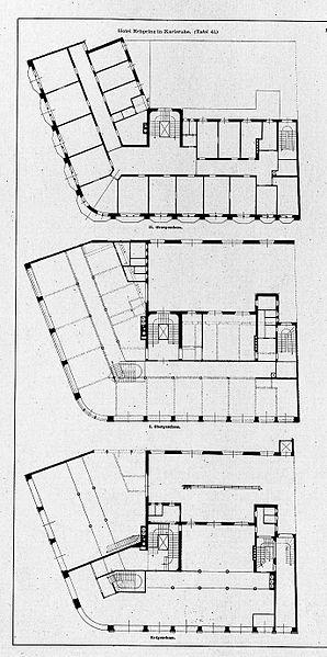 file hotel erbprinz in karlsruhe kaiserstrasse architekten curjel moser karlsruhe grundriss. Black Bedroom Furniture Sets. Home Design Ideas