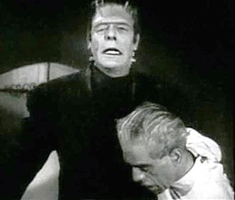 The House of Frankenstein (film) - Glenn Strange and Boris Karloff