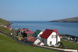 Hov, Faroe Islands - Hov, view towards east
