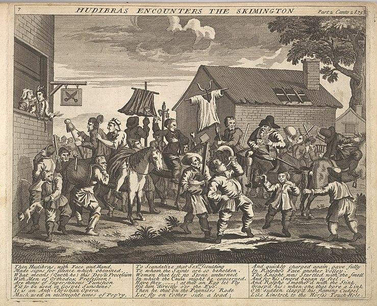 File:Hudibras Encounters the Skimmington (Plate 7- Illustrations to Samuel Butler's Hudibras) MET DP825448.jpg