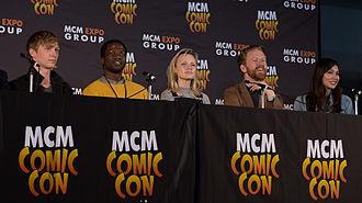 Humans (TV series) - Humans panel at MCM London Comic Con with Tudor, Dirisu, Berrington, Goodman-Hill and Chan.