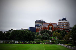 Victoria University of Wellington - Victoria University of Wellington's Kelburn Campus: the Hunter Building