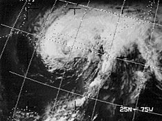 Hurricane Agnes approaching Florida