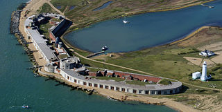 Hurst Castle Device Fort in Hampshire, England