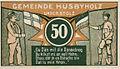 Husbyholz, Notgeld, 1921, 50 Pfennig, Schule, Rückseite.jpg