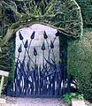 Hutton-in-the-Forest. Tulip gate at the walled garden.JPG
