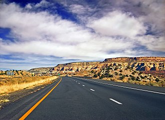 Interstate 40 in Arizona - I-40 near the New Mexico border