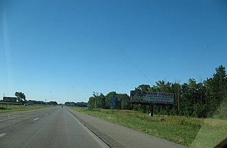 Interstate 69 in Indiana - Interstate 69 in Indiana north of the US 35 interchange
