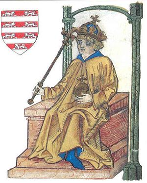 Ladislaus III of Hungary - Ladislaus depicted in Johannes de Thurocz's chronicle