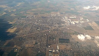 Tracy, California - Tracy, California in 2016. Note large warehouses at east side of the city.