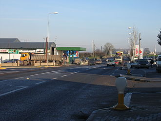 Horse and Jockey - Junction of R639 with N62 at Horse and Jockey, looking northwards along the R639
