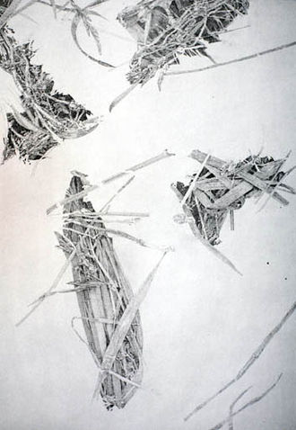 Elmar Peintner - OE Nr.130-15: Untitled, 2004, Pencil on canvas, 130 x 95 cm, Collection at the Tyrolean State Museum, Innsbruck