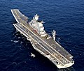 INS Vikramaditya (R33) with a Sea Harrier aircraft in the Arabian Sea (cropped).jpg