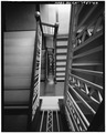 INTERIOR, STAIRWAY - Richfield Oil Building, 555 South Flower Street, Los Angeles, Los Angeles County, CA HABS CAL,19-LOSAN,67-40.tif