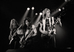 IRON MAIDEN - Steve Harris Adrian Smith & Dave Murray - Manchester Apollo - 1980.jpg