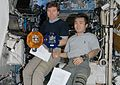 ISS-20 Michael Barratt and Koichi Wakata with SPHERES.jpg