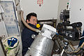 ISS-33 Akihiko Hoshide looks after the space toilet.jpg