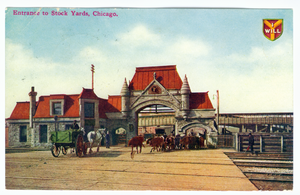Union Stock Yard Gate - The entry to the Union Stock Yards c. 1910