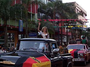 German Argentine - Queen of the German Collectivity in the Fiesta Nacional del Inmigrante in Oberá, Misiones.