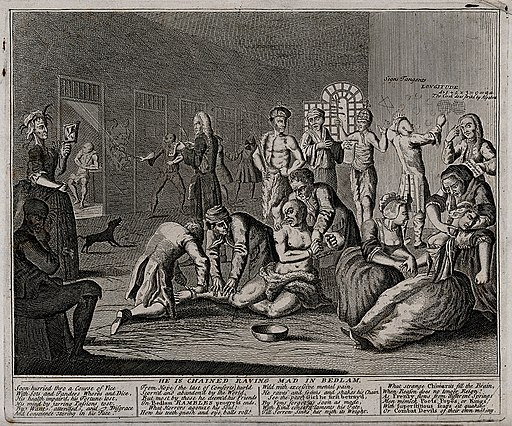 In a lunatic asylum, and in the company of a variety of othe Wellcome V0049186