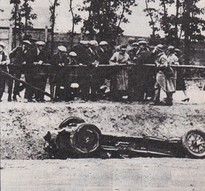 1925 French Grand Prix - The race was marred by the fatal crash of famous Italian driver Antonio Ascari, driving for Alfa Romeo. His son Alberto would go on to be Formula One world champion in the 1950s.