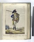 Infanteria Lijera. Primero de Cataluña, fue creado Año, de 1762. Consta de vn Batallon. (1797) (NYPL b14896507-87711).tiff