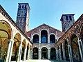 Inner courtyard of the Basilica of Sant'Ambrogio in Milan in Italy.jpg