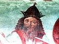 Innichen Stiftskirche - Romanisches Südportal 5a Fresco Kaiser Otto.jpg