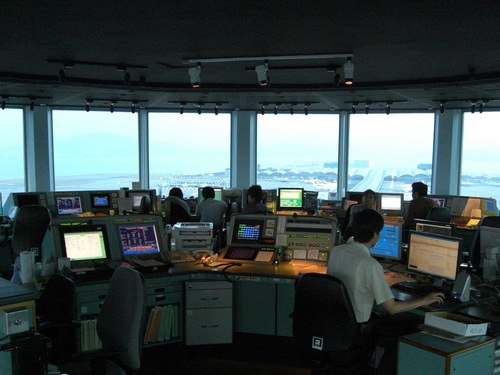 Inside the Airport Control Tower