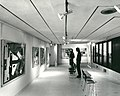 Inside the Pathfoot building with two students looking at art.jpg