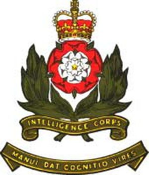 Intelligence Corps (United Kingdom) - Image: Int corps badge 6cm