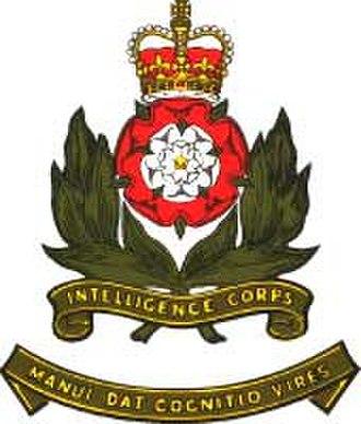 Intelligence Corps (United Kingdom) - Image: Int corps badge 6cm