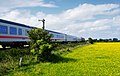 Intercity mit zwei Diesellokomotiven der Baureihe DB 218 in Sylt.jpg