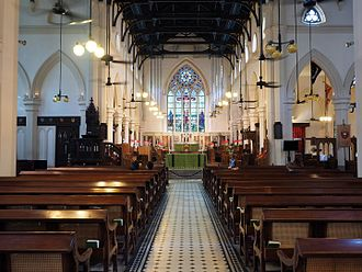 Places of worship in Hong Kong - Interior of St John's Cathedral