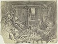 Interior of a Dug-out, 27 November 1916 Art.IWMART1625018.jpg