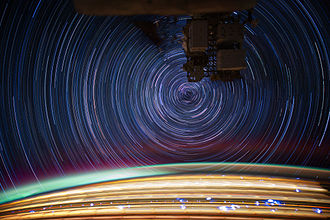 Star trail - Star trails photographed from the International Space Station in low Earth orbit
