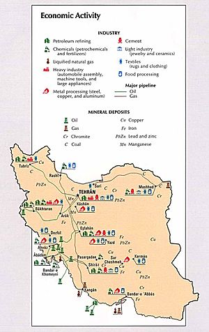 Mining in Iran - Industry and mining map of Iran