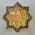 Iranian - Star Tile with Combat Scene - Google Art Project.jpg