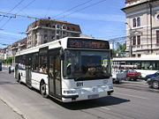 City bus in Cluj-Napoca on route 32b
