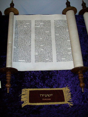 Christianity and animal rights - This image shows the Book of Isaiah, written in its original Hebrew, on a scroll.