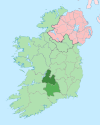 Island of Ireland location map North Tipperary.svg